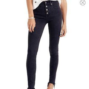 "🖤NWT Madewell 9"" Button High Waist Skinny Jeans"